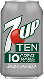 7UP TEN Lima Limón