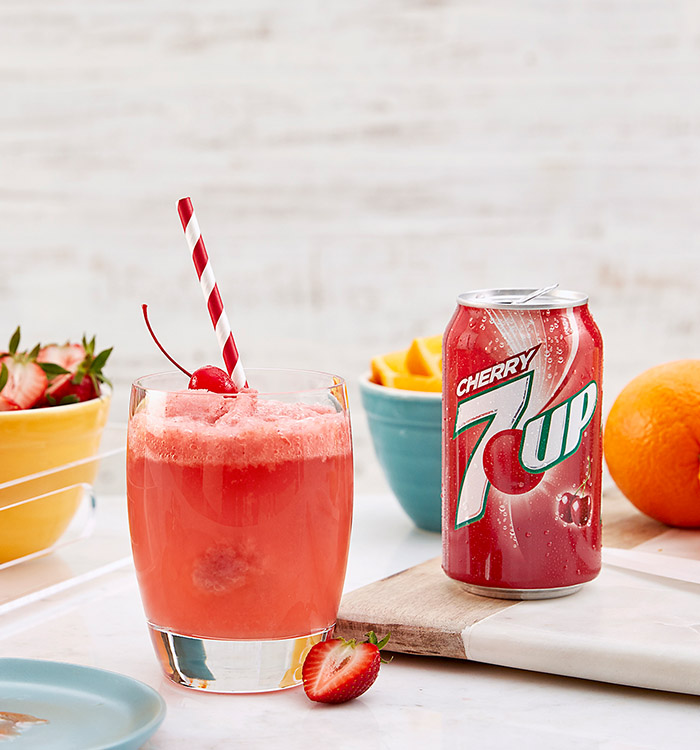Cherry 7UP Fruit Cooler Recipe