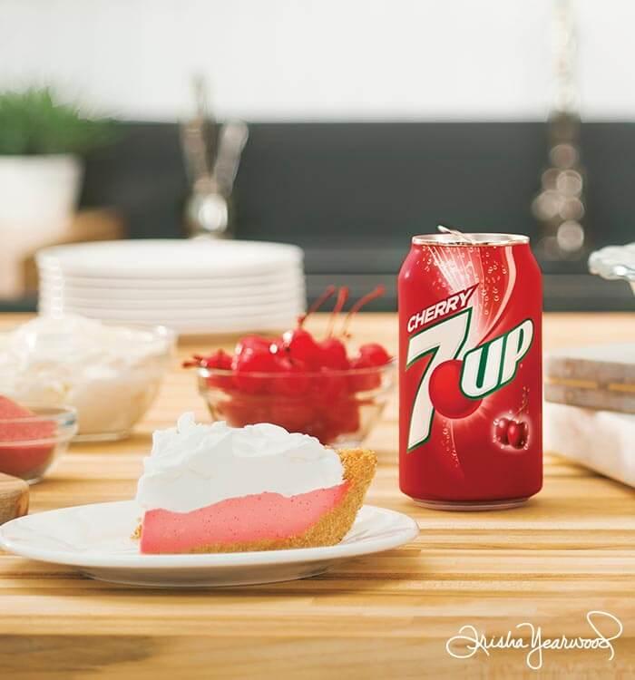 7UP No-Bake Cherry Cheesecake Recipe